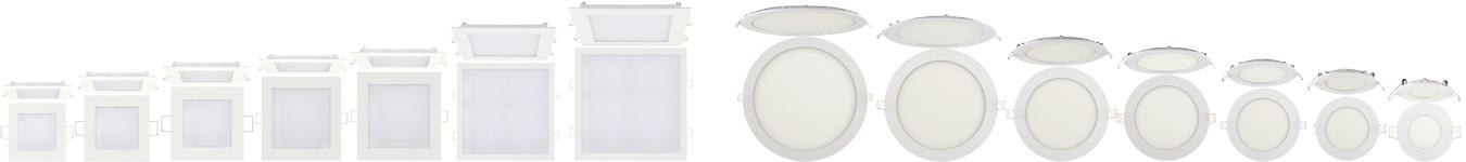 LED Panel Deckenleuchte Einbaustrahler Einbau Lampe Leuchte Licht Ultraslim Spot HOROZ 6