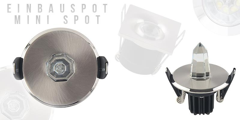 LED Einbaustrahler Minispot Spot Einbau Einbauleuchte 1w 2w 3w