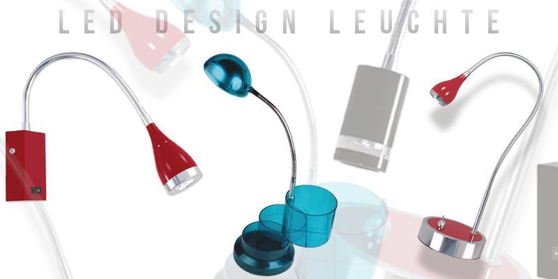 LED Design Leuchte Flurlampe Tischlampe Wandlampe mit Schalter