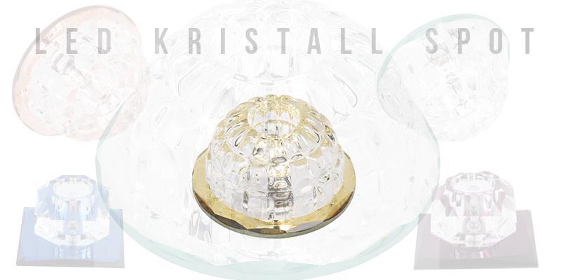 LED Deckenleuchte G4 Aufbau Strahler Spot Licht Crystal Glas Kristall IP20
