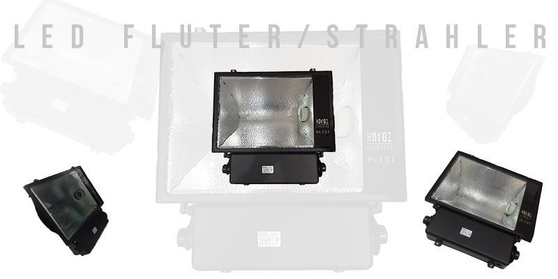 E40 Flutlichtstrahler 400W Außenstrahler IP65 Wassergeschützt
