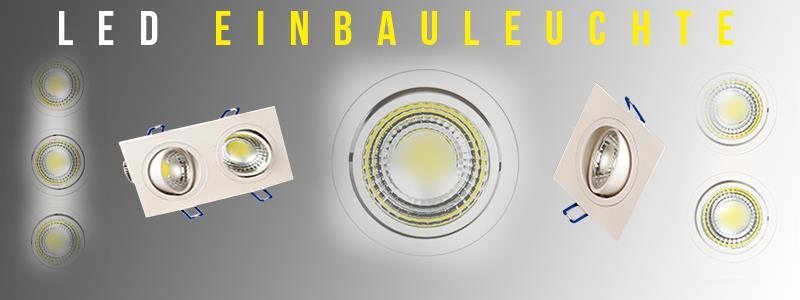 LED Einbauleuchten Einbaulampen Unterputz Einbau Rund Deckeneinbau 5w 10w 15w