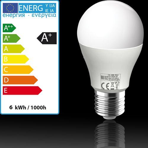 20x HL4306L LED Lampe Birnen Leuchtmittel E27, 6W, kaltweiss