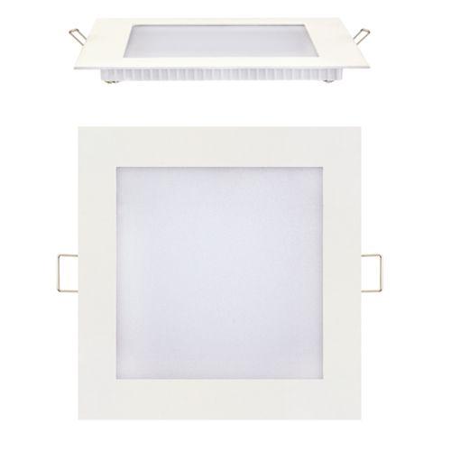 12W Ultraslim LED Panel Einbaustrahler Deckenleuchte Eckig Leuchte weiss warmweiss