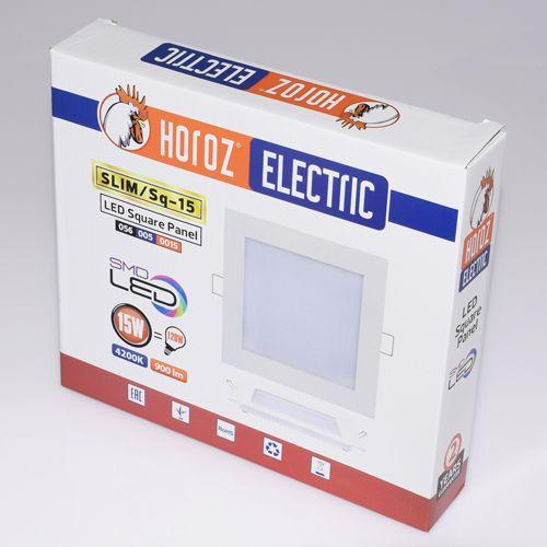 15W Ultraslim LED Panel Einbaustrahler Deckenleuchte Eckig Leuchte weiss warmweiss