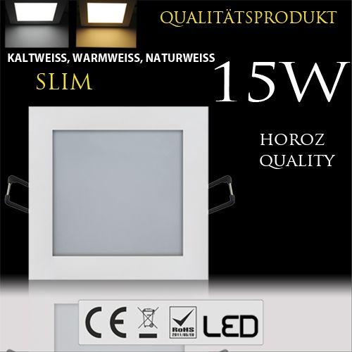 15W Ultraslim LED Panel Einbaustrahler Deckenleuchte Eckig Leuchte weiss kaltweiss