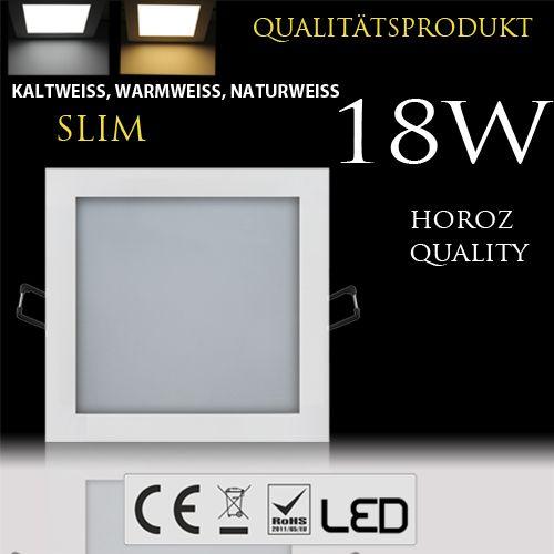 18W Ultraslim LED Panel Einbaustrahler Deckenleuchte Eckig Leuchte weiss kaltweiss