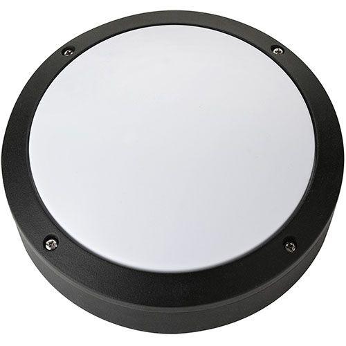 LED Kellerleuchte Kellerlampe 12W Schwarz 4000K NUR