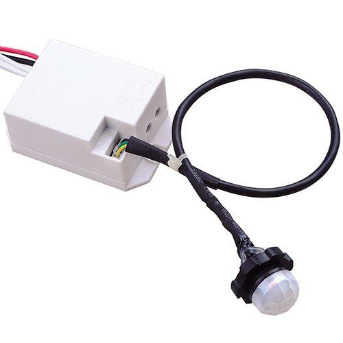 SMART WEISS Mini Bewegungsmelder Sensor Unterputz 360° Für LED Detector Max. 1200W