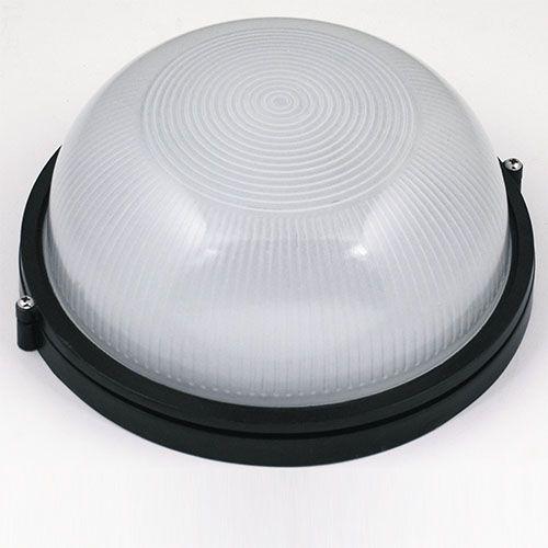 ZIGANA Feuchtraumleuchte Kellerlampe Kellerleuchte Rundleuchte Schwarz E27 60W