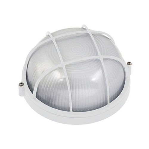 ARARAT Feuchtraumleuchte Kellerlampe Kellerleuchte Rundleuchte Weiss E27 60W