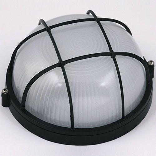 ARARAT Feuchtraumleuchte Kellerlampe Kellerleuchte Rundleuchte Schwarz E27 60W