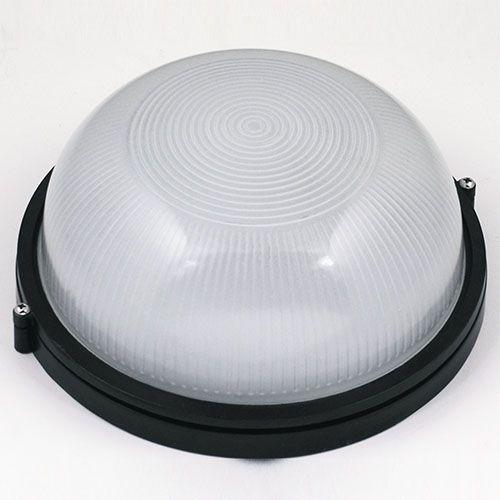 MUNZUR Feuchtraumleuchte Kellerlampe Kellerleuchte Rundleuchte Schwarz E27 100W