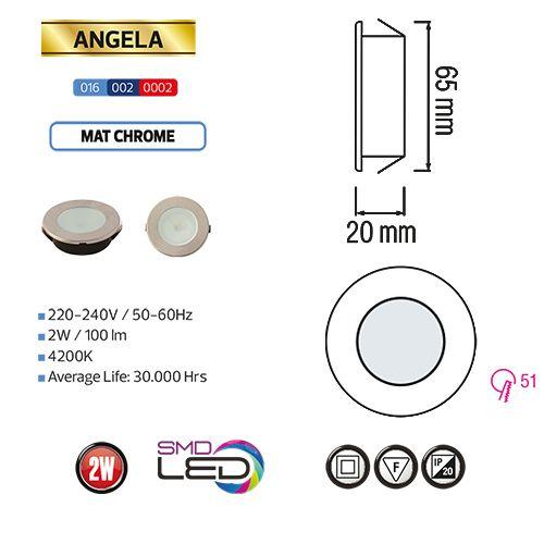 ANGELA 2W MatchromME 6400K Mini LED Slim Einbauleuchte