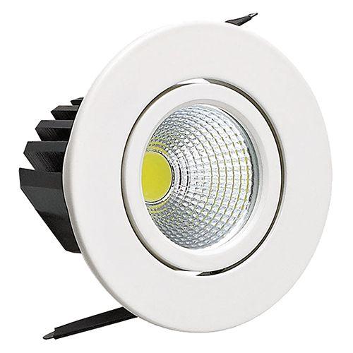 SARA 3W Weiss 6500K COB LED Einbaustrahler Einbauleuchte Strahler Schwenkbar Rund