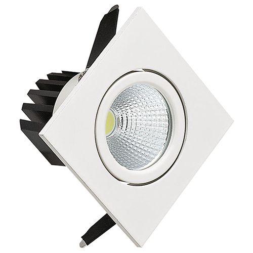 DIANA 3W Weiss 2700K COB LED Einbaustrahler Einbauleuchte Strahler Schwenkbar Eckig
