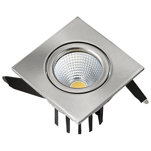 DIANA 3W MatchromM 2700K COB LED Einbaustrahler Einbauleuchte Strahler Schwenkbar Eckig