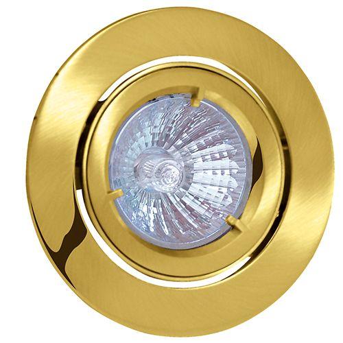ACELYA Goldfarbig GU5.3 Einbaustrahler Einbaurahmen