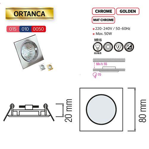 ORTANCA Chrom GU5.3 Einbaustrahler Einbaurahmen