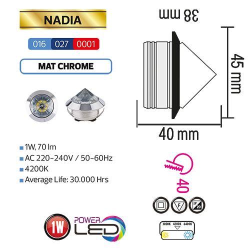 NADIA 1W MTCHRM 6400K L.DOWNLIGHT
