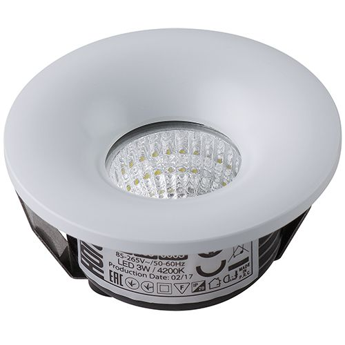 BIANCA 016-036-0003 3W WHITE 4200K 85-265V L.DOWNLIGHT