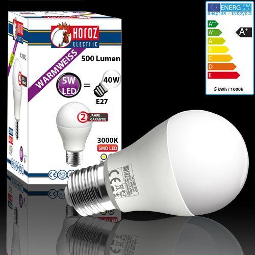 LED LEUCHTMITTEL BIRNE E27 5W GLOBE HL4305