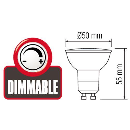 DIMMBARE LED STRAHLER SPOT GU10 LEUCHTMITTEL 6W
