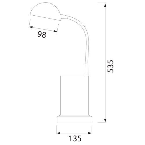 HL010L 3W ROT 220-240V TISCHLAMPE