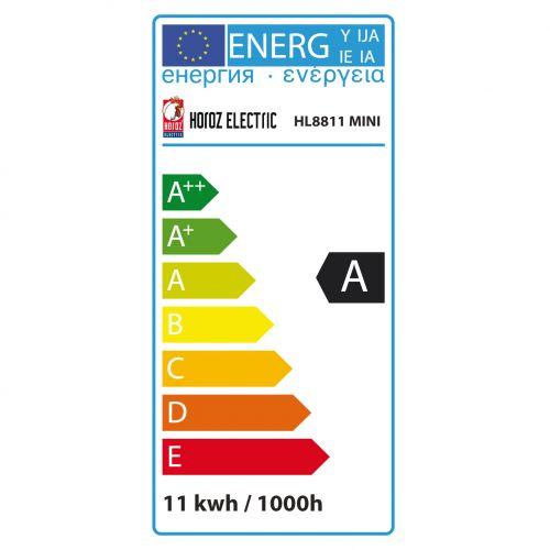 ENERGIESPARLAMPE FULL SPIRAL 11W 6400K KALTWEISS E27 MINI T2.8 HL8811