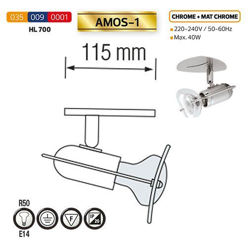 HL700 40W CHRM&MATT-CHROMM R50 E14 220-240V DECKENLEUCHTE