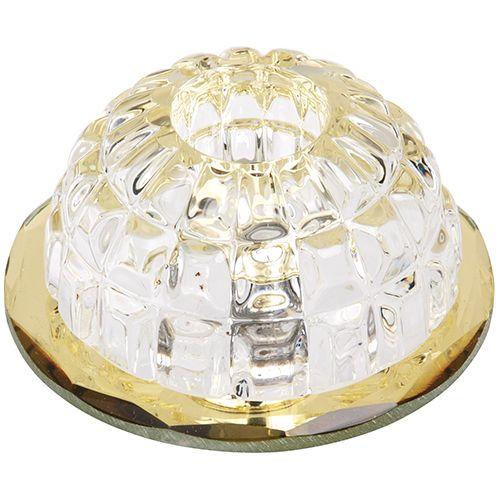 FULYA Gelb G4 Kristall Halogen Einbaulampe Einbau Spot