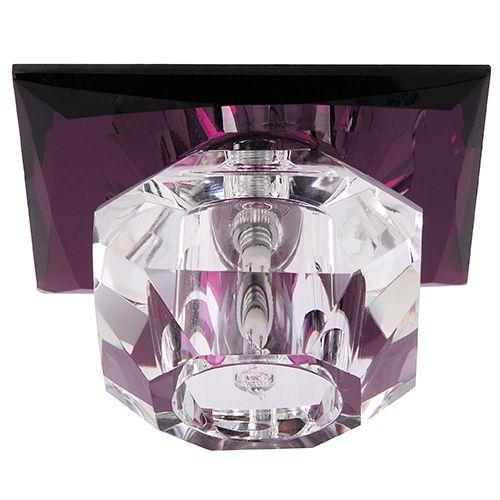 NILÜFER Lila G4 Kristall Halogen Einbaulampe Einbau Spot
