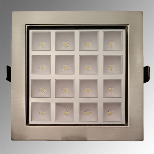 HL682L 16LED 2700K WARMWEISS MATT-CHROM PWR LED EINBAUSPOT
