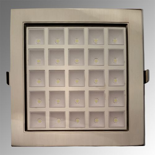 HL683L 25LED 6400K KALTWEISS MATT-CHROM  PWR LED EINBAUSPOT
