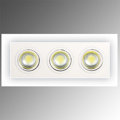 ADRIANA-15 3X5W COB LED Einbauspot Weiss 6400K