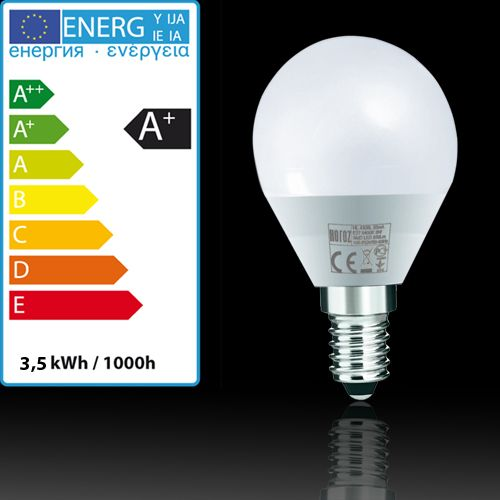 LED Miniglobe 3,5W E14 3000K Warmweiss HL4380