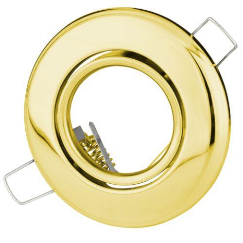 EINBAUSTRAHLER GOLD SCHWENKBAR MIT 4 Watt LED Leuchtmittel GU10 HL750