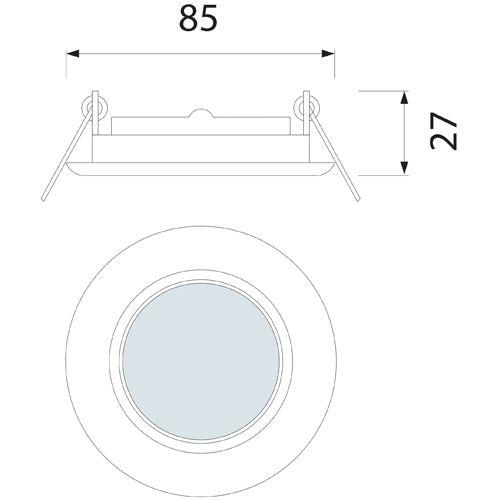 EINBAUSTRAHLER MATT CHROM SCHWENKBAR MIT 4 Watt LED Leuchtmittel GU10 HL750