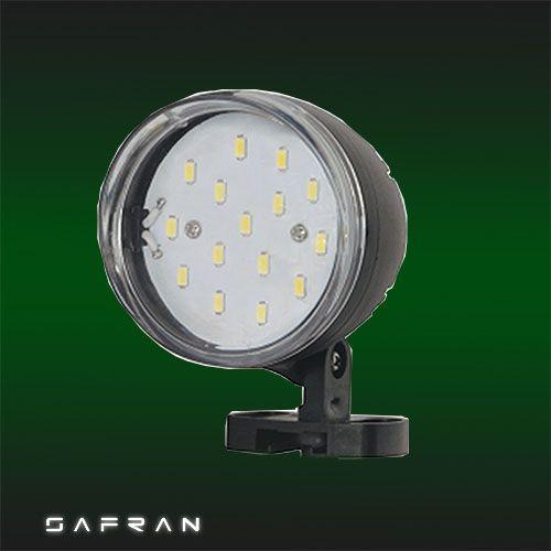 SAFRAN-5 5W Schwarz 6400K LED Gartenlampe Gartenleuchte
