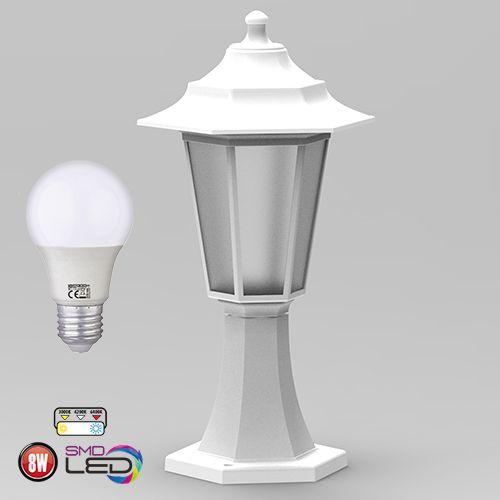 Kopie von Begonya-1 Außenlampe Wandleuchte Gartenlampe WEISS