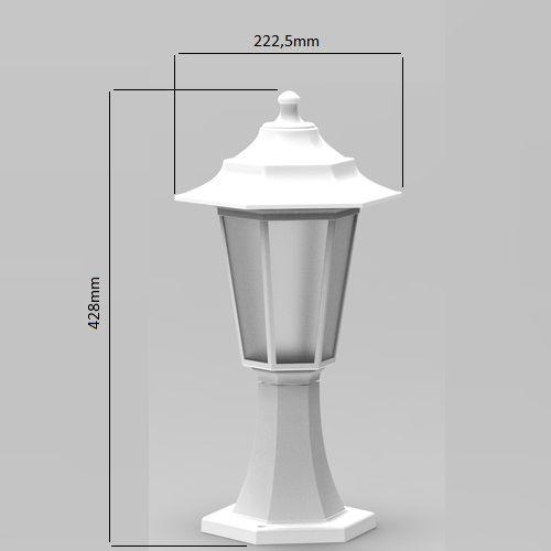 Begonya-1 Außenlampe Wandleuchte WEISS - 8W WARMWEISS
