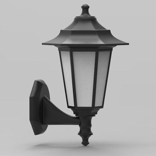 Begonya-2 Außenlampe Wandleuchte SCHWARZ - 8W WARMWEISS