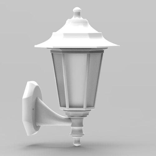 Begonya-2 Außenlampe Wandleuchte WEISS - 8W WARMWEISS