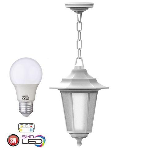 Kopie von Begonya-3 Außenlampe Wandleuchte Gartenlampe WEISS