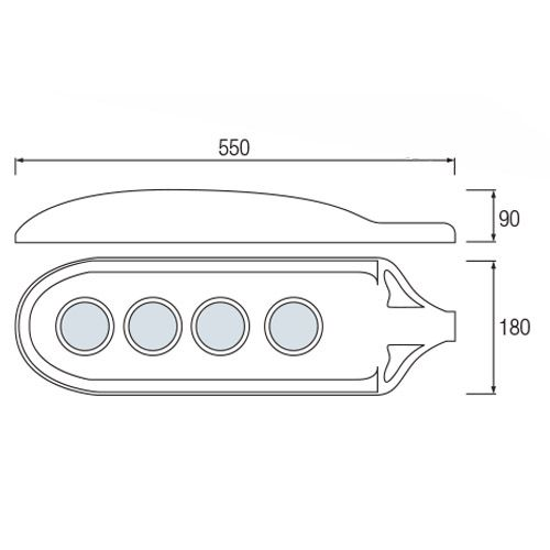 HL194L 60W 6400K KALTWEISS 220-240V LED STRASSEN LAMPE