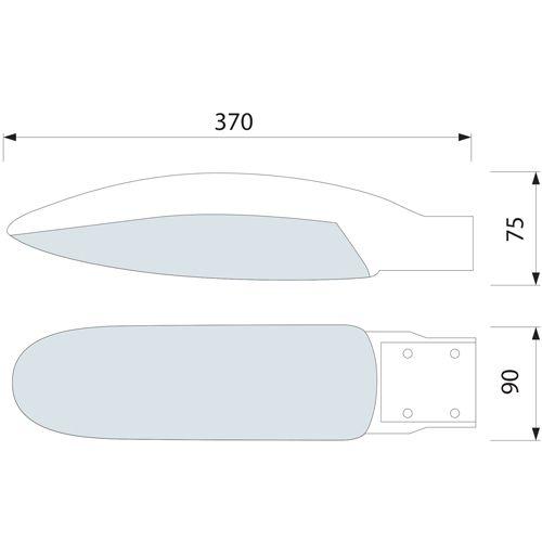 HL195L 26W 12LED DRK GRAU 6400K KALTWEISS 220-240V STRASSEN LAMPE