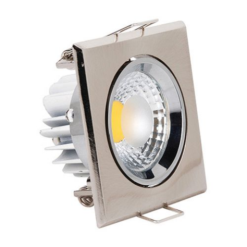 HL679L 5W MATT-CHROM 2700K WARMWEISS COB LED EINBAUSPOT
