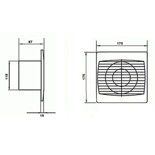 NISA 12CM 220-240V Lüftungsventilator - Lüfter