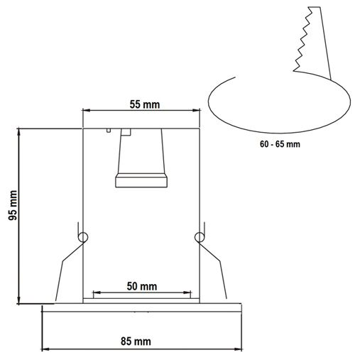 R50 EINFACH ANTIK SPOT E14 - 5002-035