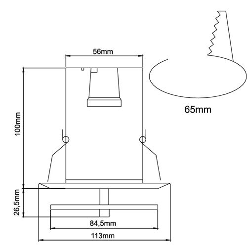 R50 EINFACH SPOT MIT GLASS CHROM E14 - 6302-033